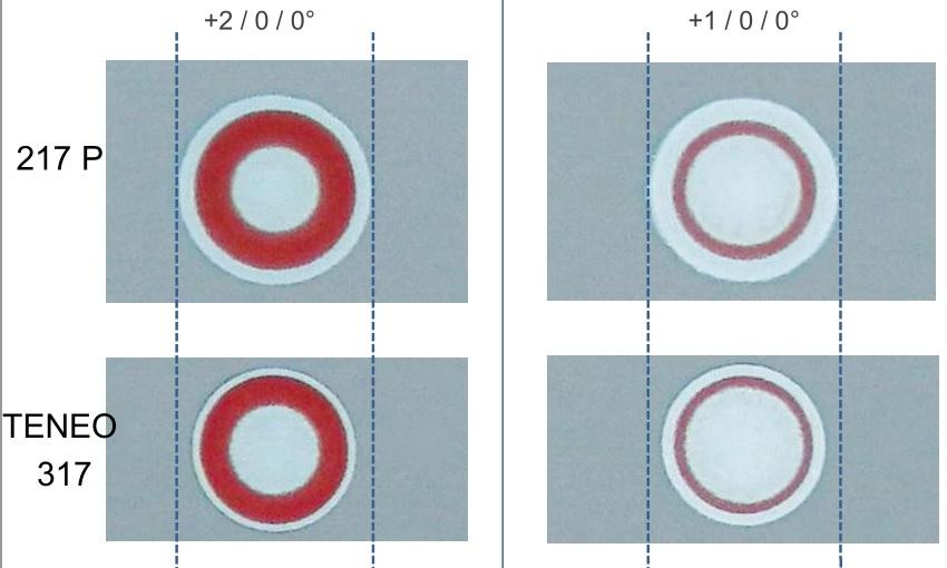 Zones de traitement Teneo 210 et 317